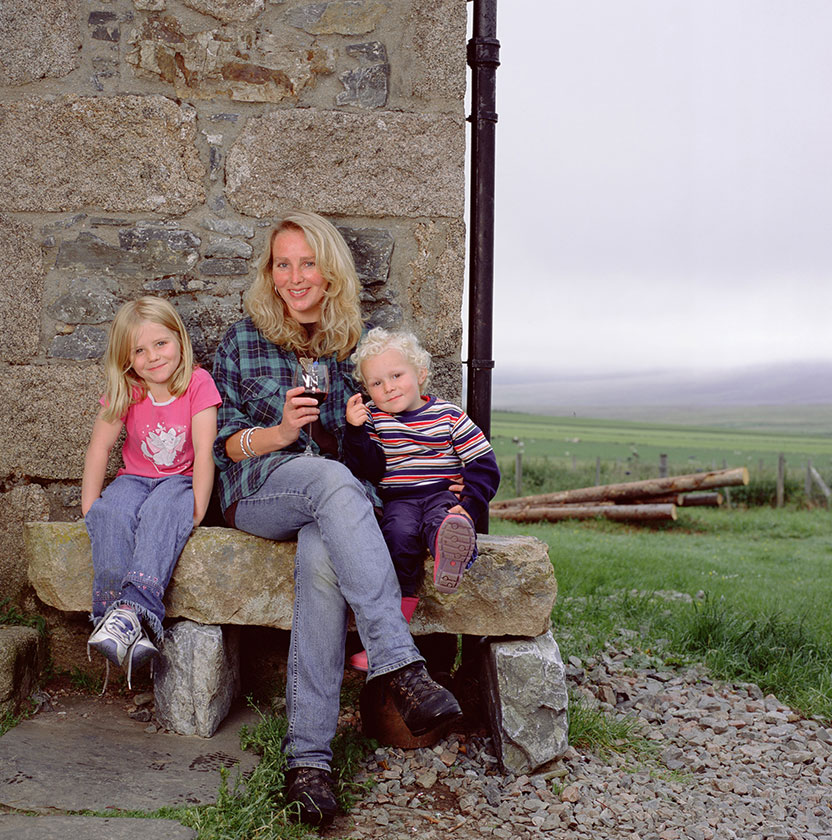 Ghillie Basan with her children in Scotland. Photo copyright: John Paul Photography.